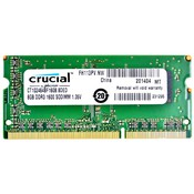 Память SODIMM DDR3 PC3-12800 Crucial CT102464BF160B, 8Гб, 1.35 В