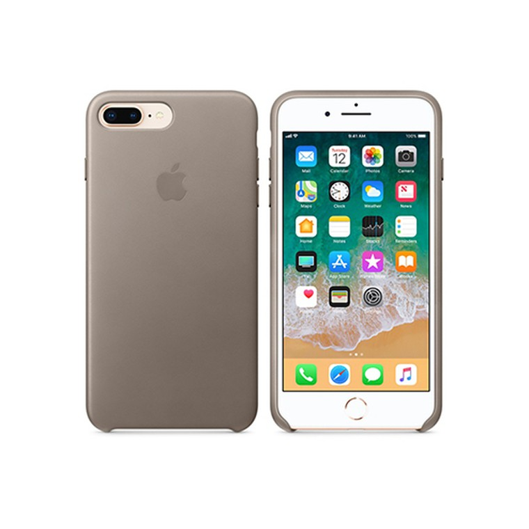 Чехол для iPhone 8 Plus/7 Plus Apple Leather Case, Taupe (MQHJ2ZM/A)