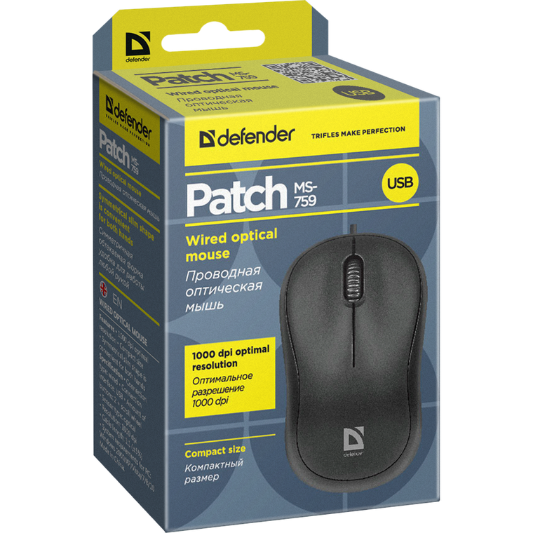 Мышь Defender Patch MS-759, черный