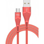 Кабель USB 2.0 AM - Lightning(M) (1м) 8P, TFN-CFZMICUSB1MCR  (coral)