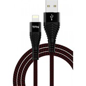 Кабель USB 2.0 AM - Lightning(M) (1м) 8P, TFN-CFZLIGUSB1MBK  (black)