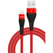 Кабель USB 2.0 AM - Lightning(M) (1м) 8P, TFN-CFZLIGUSB1MRD  (red-black)