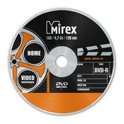 "Диск DVD-R Mirex арт-коллекция ""Video"" 4,7GB, 16x, SLIM-футляр (UL130006A1S)"