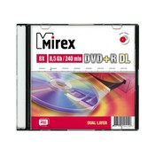 "Диск DVD+R Mirex ""Dual Layer"" 8,5GB, 8x, SLIM-футляр (UL130062A8S)"