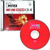 "Диск CD-R Mirex ""Hotline"" 700MB, 48x, SLIM-футляр (UL120050A8S)"