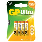 Батарейка GP 24AU-U4/2CR4  Ultra AAA MN2400 (4шт) (LR03-4BL)
