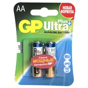 Батарейка GP 15AUP-2CR2 Ultra Plus AA  MN1500 (2шт) (LR6-2BL)