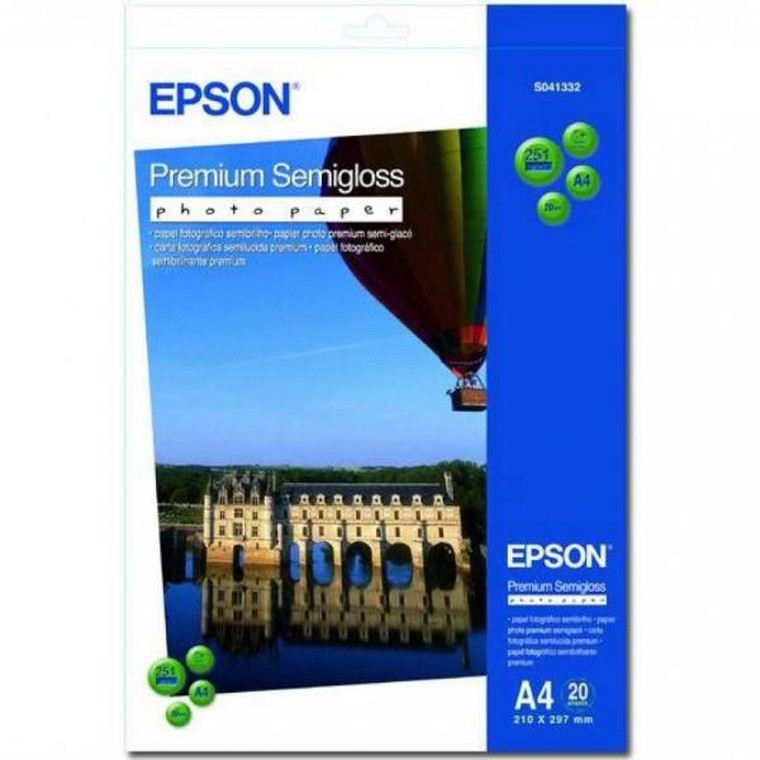 Бумага A4 Epson C13S041332 Premium Semigloss Photo Paper, 251г/м2, 20л