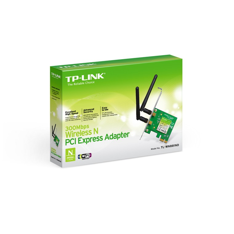 Адаптер Wi-Fi TP-LINK TL-WN881ND, стальной