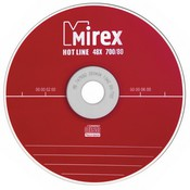 "Диск CD-R Mirex ""Hotline"" 700MB, 48x, КОМПЛЕКТ  5шт, SLIM-футляр (UL120050A8F)"